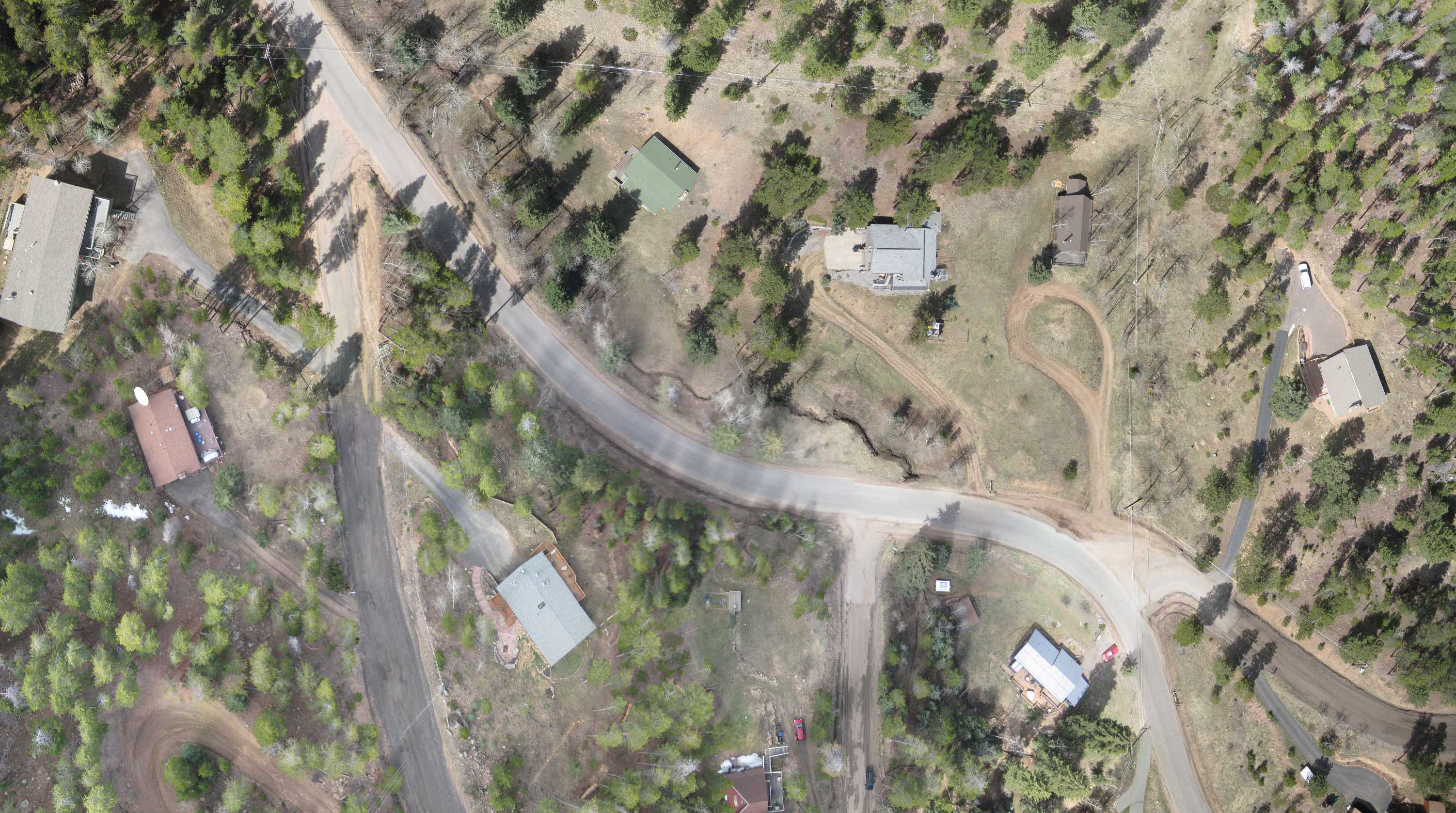 Evergreen area aerial orthophoto