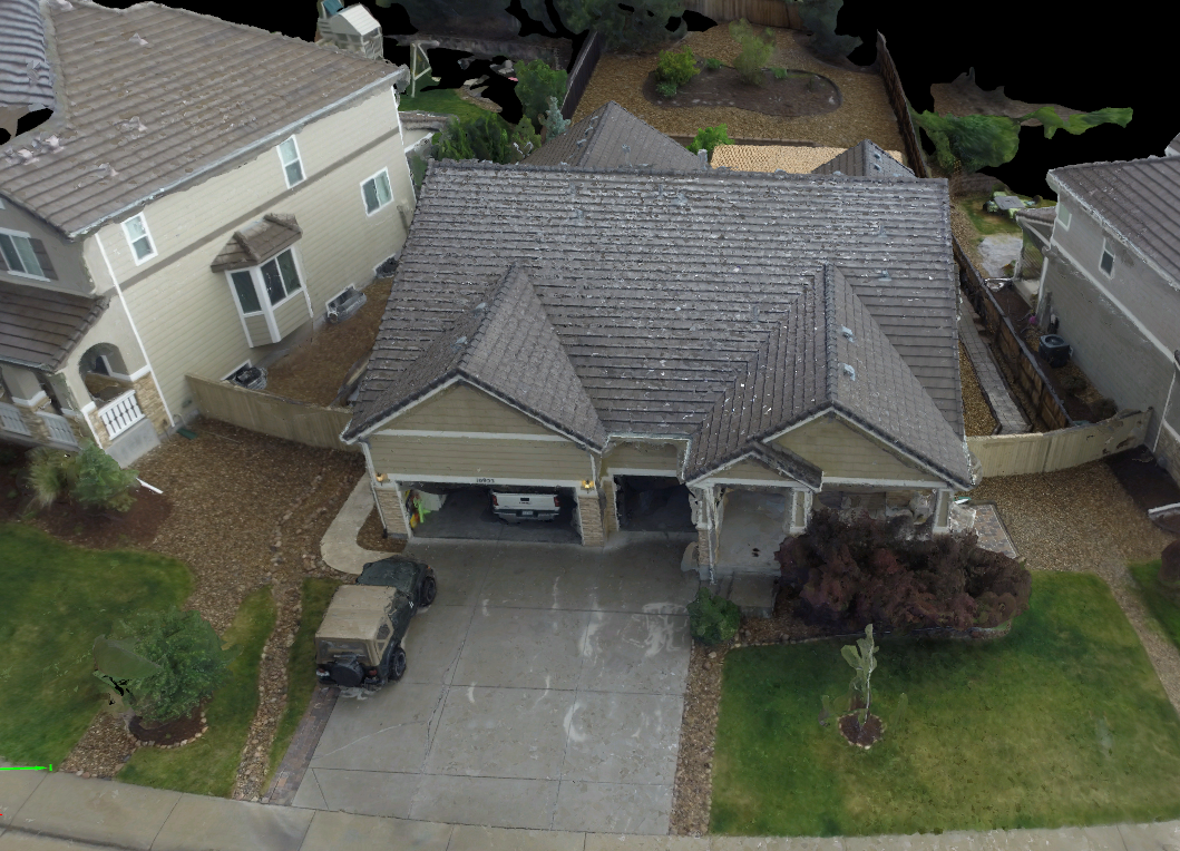 Texture Home 3D Model, built from UAV scanned photogrammetry.